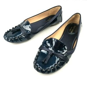 Kate Spade 5.5M Flat Blue Patent Leather Shoes